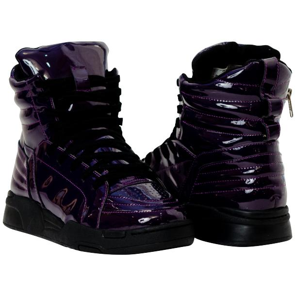 Breakin' Royal Indigo Purple Patent Leather High Top Sneakers full-size #1