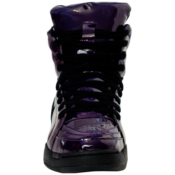 Breakin' Royal Indigo Purple Patent Leather High Top Sneakers full-size #3