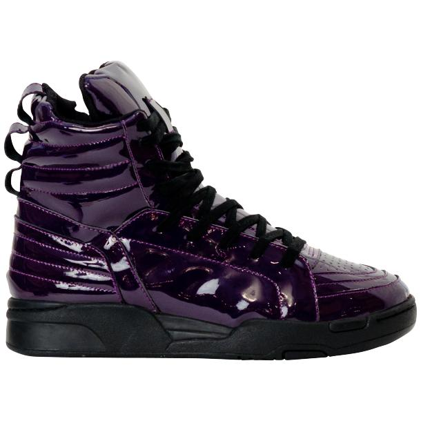 Breakin' Royal Indigo Purple Patent Leather High Top Sneakers full-size #4