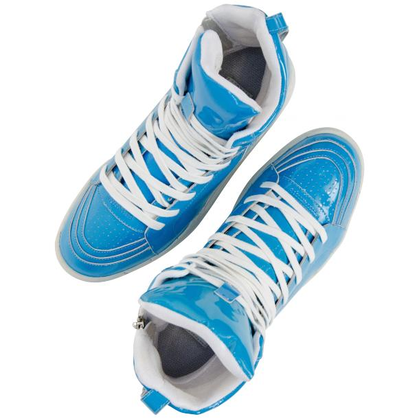 Breakin' Royal Blue Patent Leather High Top Sneakers full-size #2