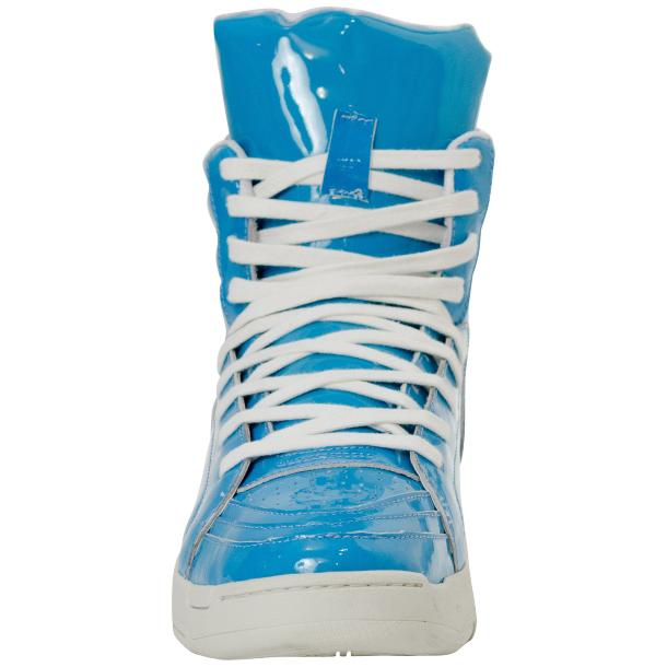 Breakin' Royal Blue Patent Leather High Top Sneakers full-size #3
