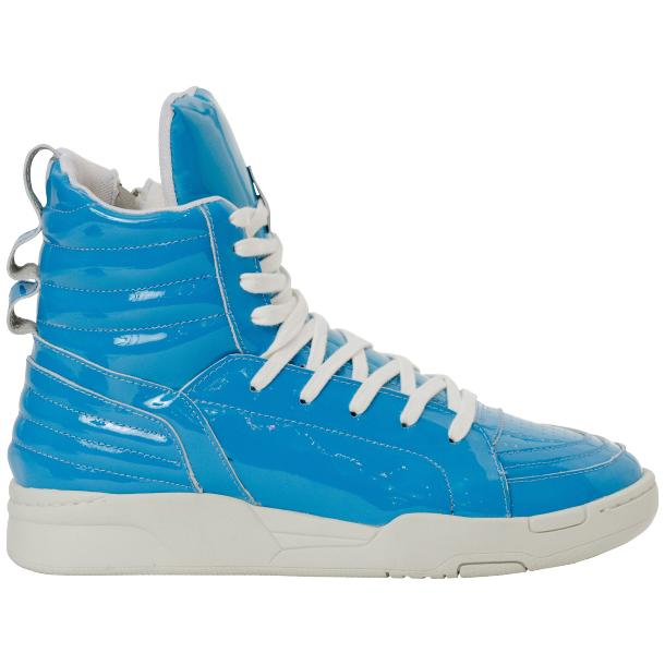 Breakin' Royal Blue Patent Leather High Top Sneakers full-size #4