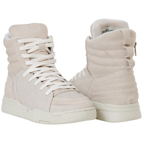Breakin' Royal Snow White Suede High Top Sneakers full-size #1