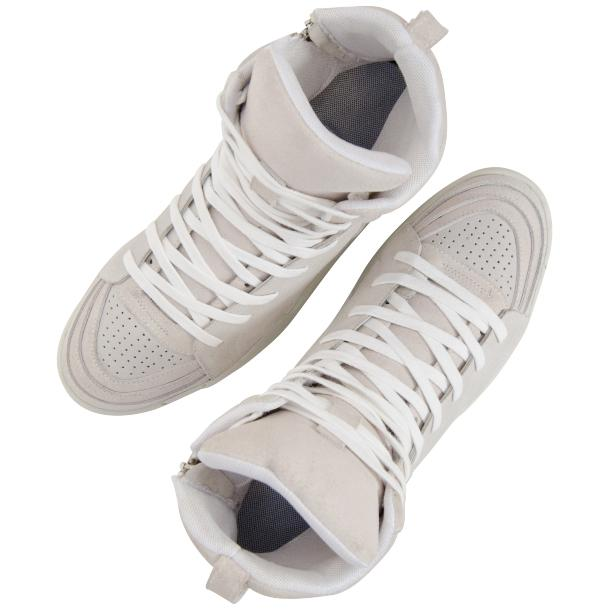 Breakin' Royal Snow White Suede High Top Sneakers full-size #2