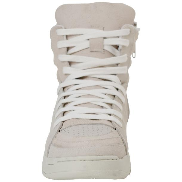 Breakin' Royal Snow White Suede High Top Sneakers full-size #3
