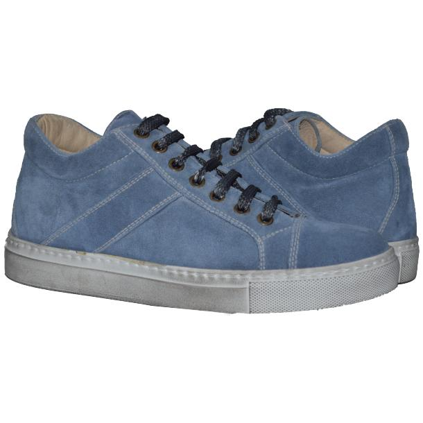 Hannah Suede Jeans Blue Dip Dyed Sneakers full-size #1