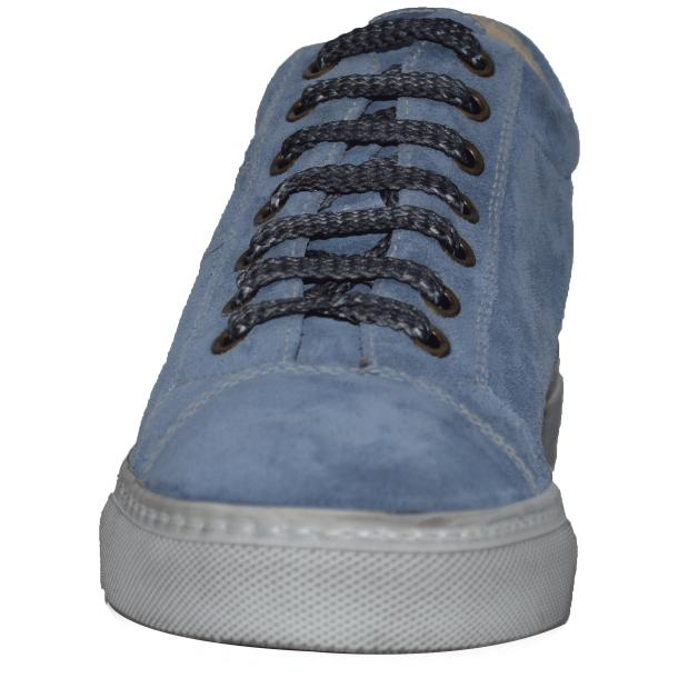 Hannah Suede Jeans Blue Dip Dyed Sneakers full-size #2