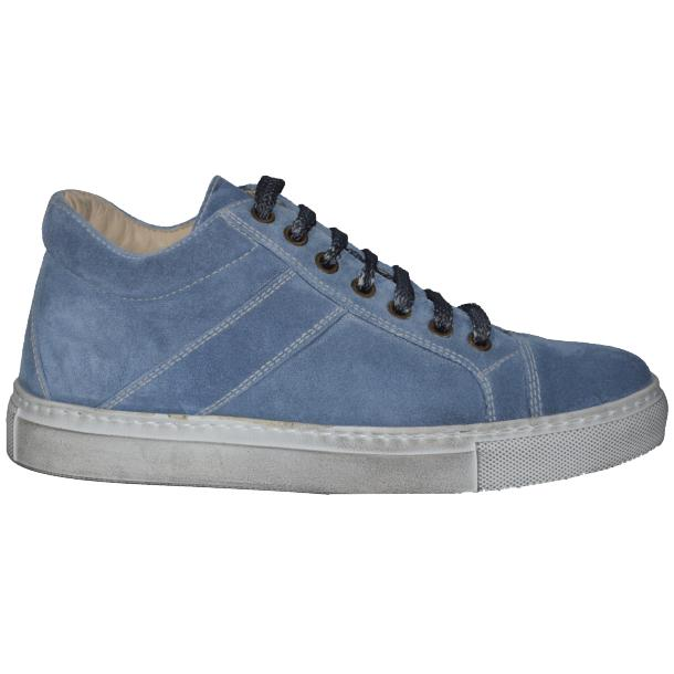 Hannah Suede Jeans Blue Dip Dyed Sneakers full-size #3