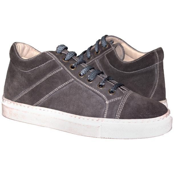 Hannah Suede Stone Grey Dip Dyed Sneakers full-size #1