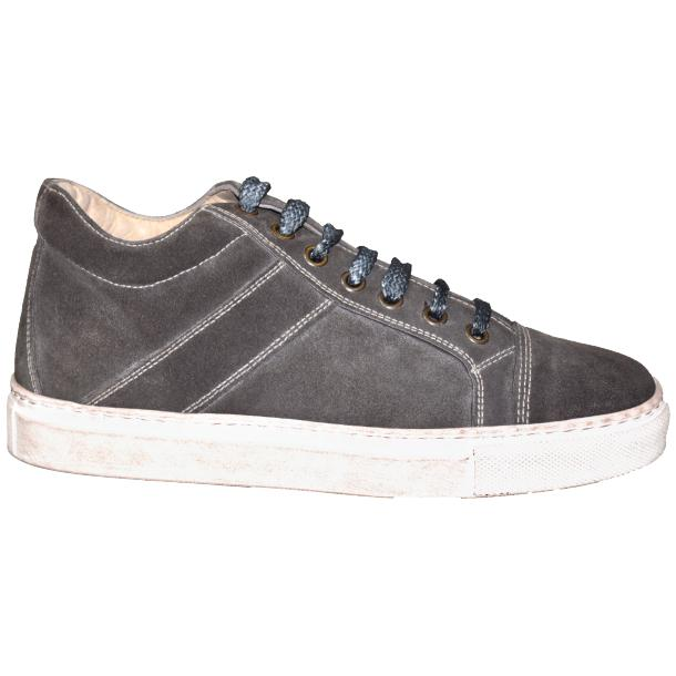 Hannah Suede Stone Grey Dip Dyed Sneakers full-size #3