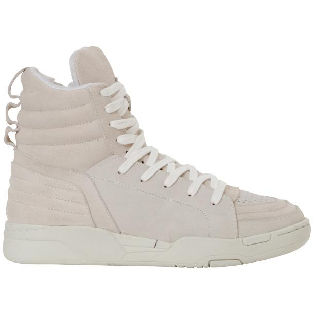 Breakin' Royal Snow White Suede High Top Sneakers full-size #4