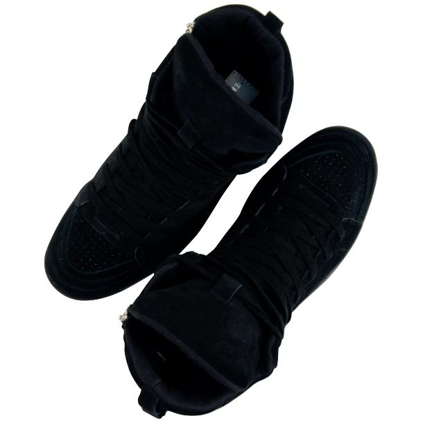 Breakin' Royal Black Suede High Top Sneakers full-size #2