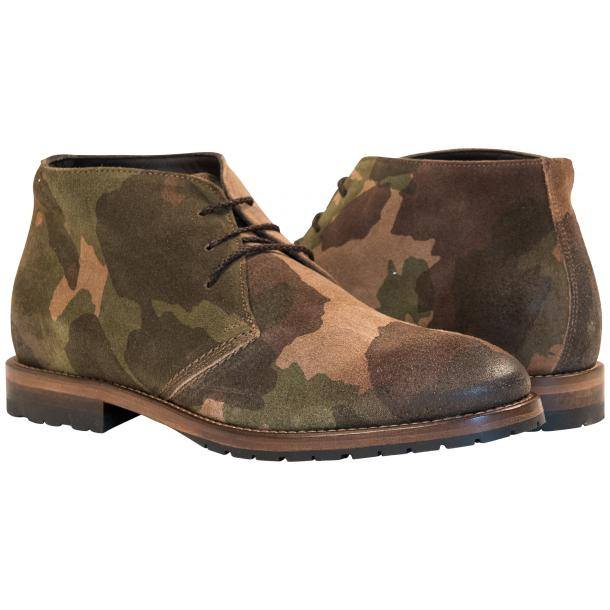 "Brenda Camouflage ""Hunting"" Suede Desert Chukka Boots full-size #1"