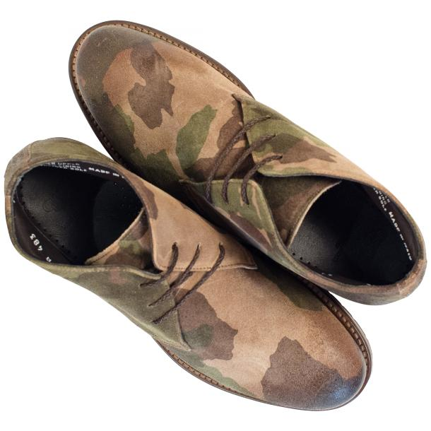 "Brenda Camouflage ""Hunting"" Suede Desert Chukka Boots full-size #2"