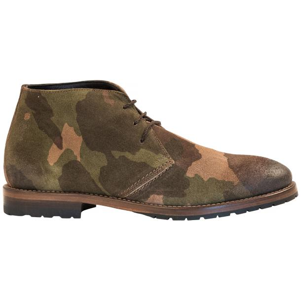 "Brenda Camouflage ""Hunting"" Suede Desert Chukka Boots full-size #4"