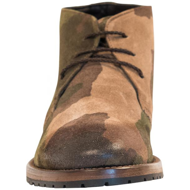 "Brenda Camouflage ""Hunting"" Suede Desert Chukka Boots full-size #3"