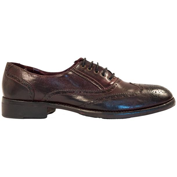"Desiree Dip Dyed ""Oxblood""Leather Wingtip Lace Up Oxfords full-size #4"