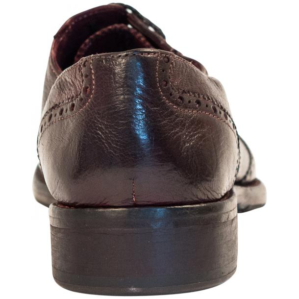 "Desiree Dip Dyed ""Oxblood""Leather Wingtip Lace Up Oxfords full-size #5"