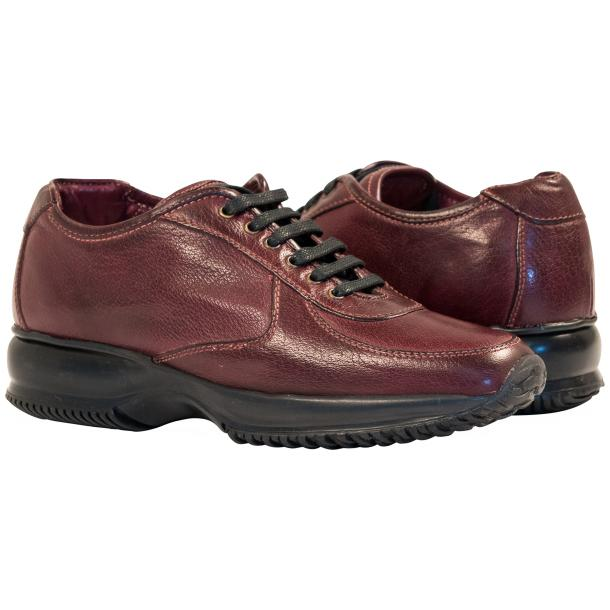Misha Oxblood Nappa Leather Rubber Sole Sneaker Shoes full-size #1