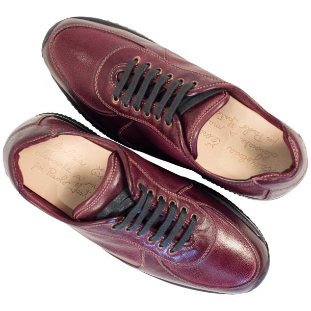 Misha Oxblood Nappa Leather Rubber Sole Sneaker Shoes full-size #2
