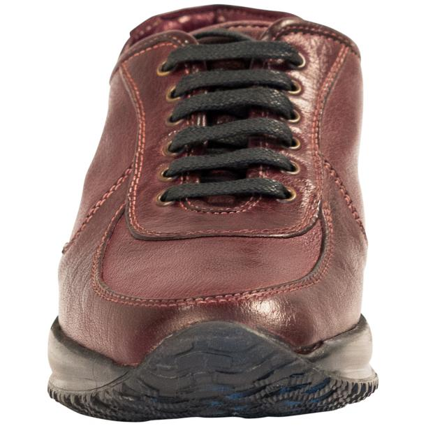 Misha Oxblood Nappa Leather Rubber Sole Sneaker Shoes full-size #3