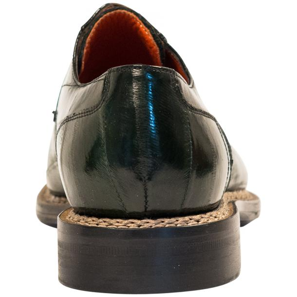 "Terry Dark Green ""Verde"" Eel Skin Laced Up Dress Shoes full-size #5"