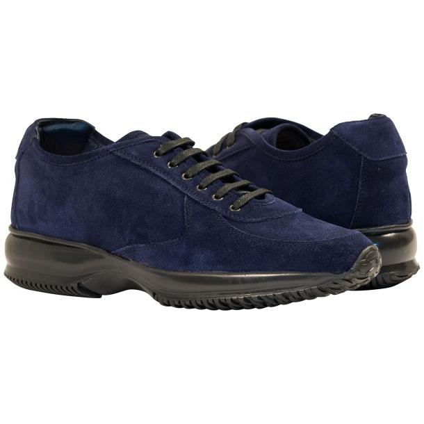 Pressley Blue Disco Suede Rubber Sole Sneaker Shoes full-size #1
