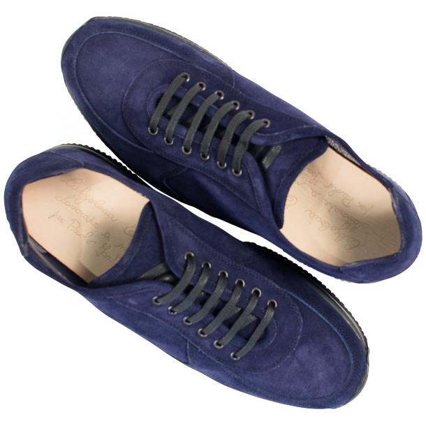 Pressley Blue Disco Suede Rubber Sole Sneaker Shoes full-size #2