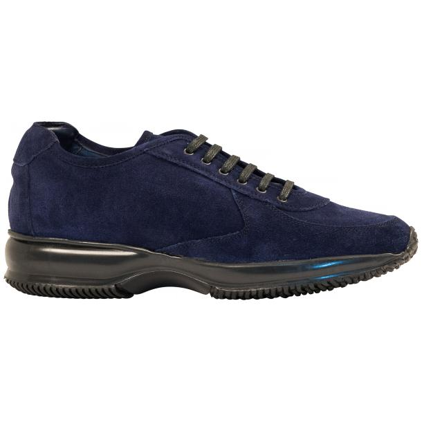 Pressley Blue Disco Suede Rubber Sole Sneaker Shoes full-size #4