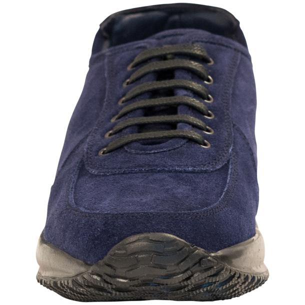 Pressley Blue Disco Suede Rubber Sole Sneaker Shoes full-size #3