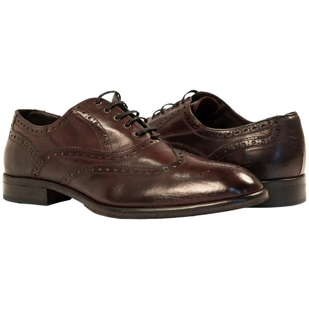 Mateo Dip Dyed Burgundy Red Nappa Leather Oxfords full-size #1