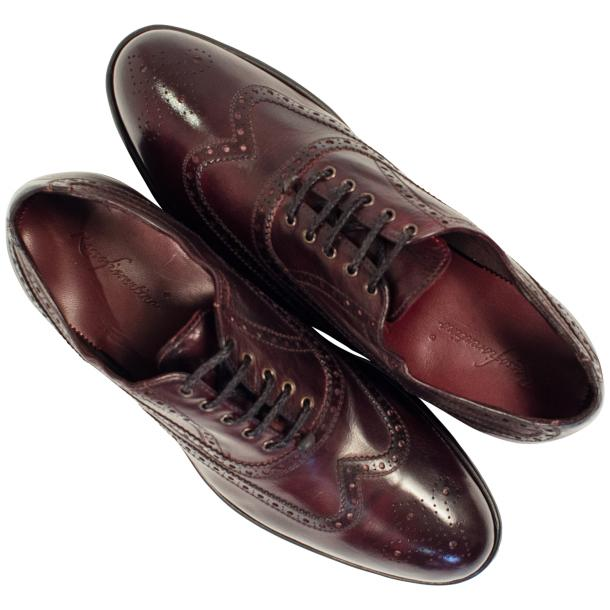 Mateo Dip Dyed Burgundy Red Nappa Leather Oxfords full-size #2