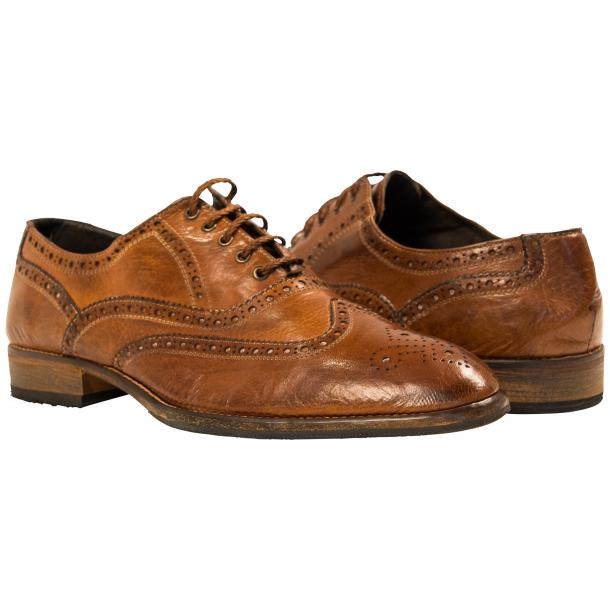 Mateo Dip Dyed Mahogany Nappa Leather Oxfords full-size #1