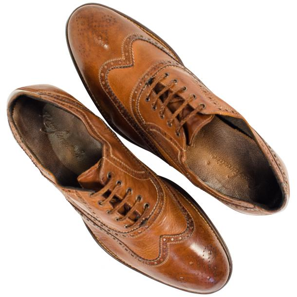 Mateo Dip Dyed Mahogany Nappa Leather Oxfords full-size #2