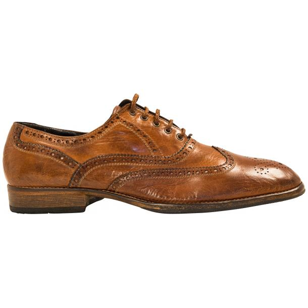 Mateo Dip Dyed Mahogany Nappa Leather Oxfords full-size #4