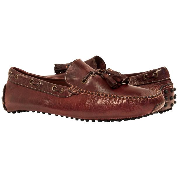 Blake Brown Dip Dyed Rubber Pebble Drivers Loafers  full-size #1