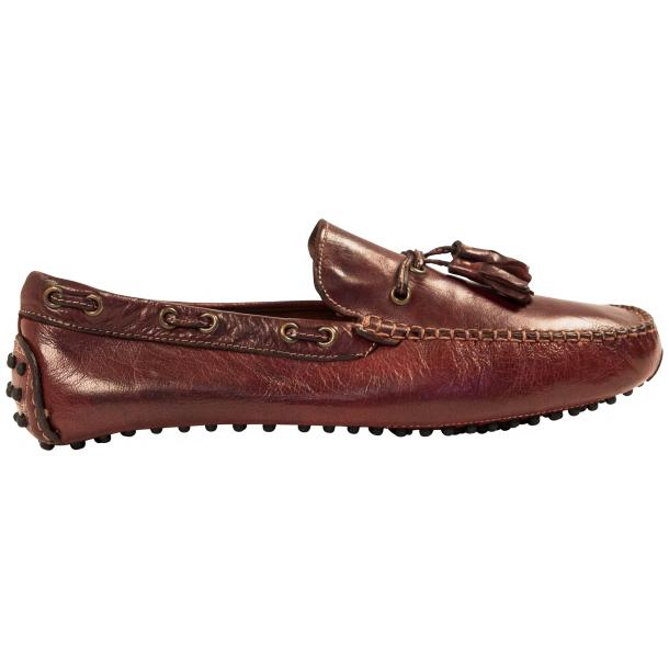 Blake Brown Dip Dyed Rubber Pebble Drivers Loafers  full-size #4