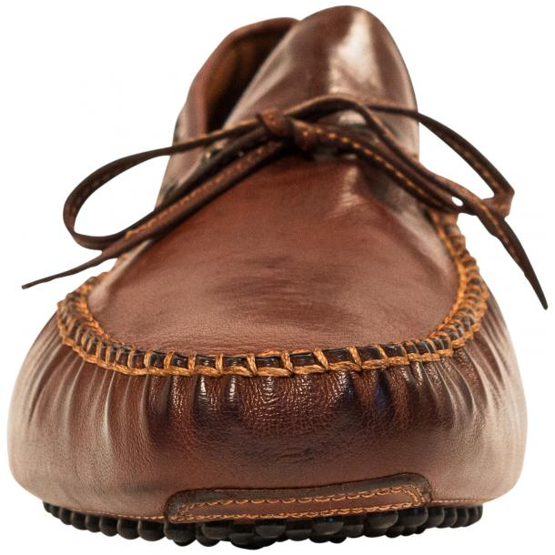 Adam Dip Dyed Brick Brown Nappa Leather Drivers full-size #3