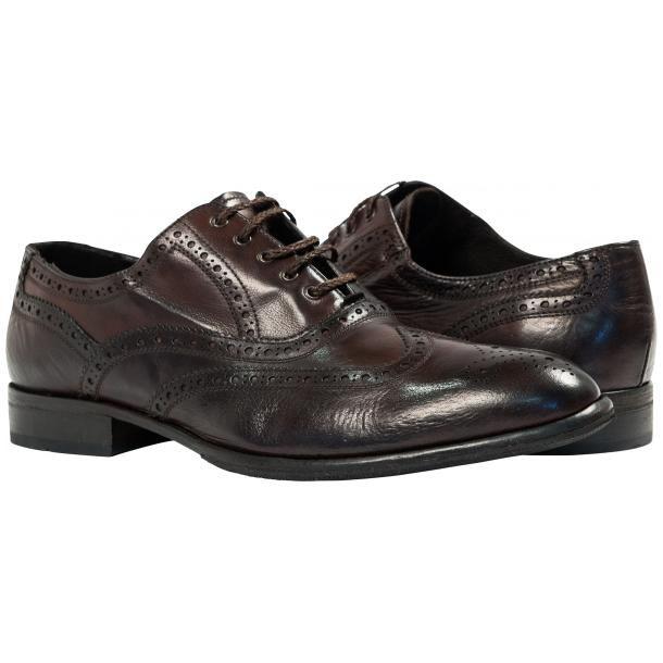 Mateo Dip Dyed Dark Brown Nappa Leather Oxfords full-size #1