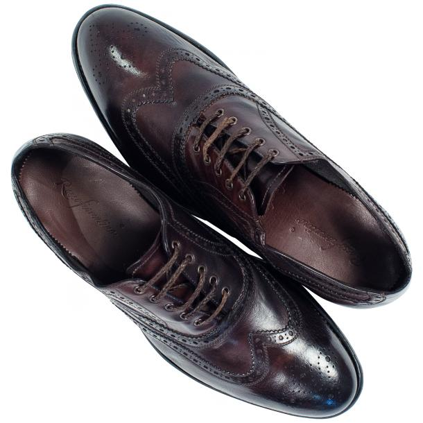 Mateo Dip Dyed Dark Brown Nappa Leather Oxfords full-size #2