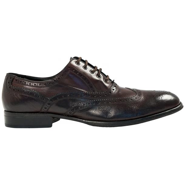 Mateo Dip Dyed Dark Brown Nappa Leather Oxfords full-size #4