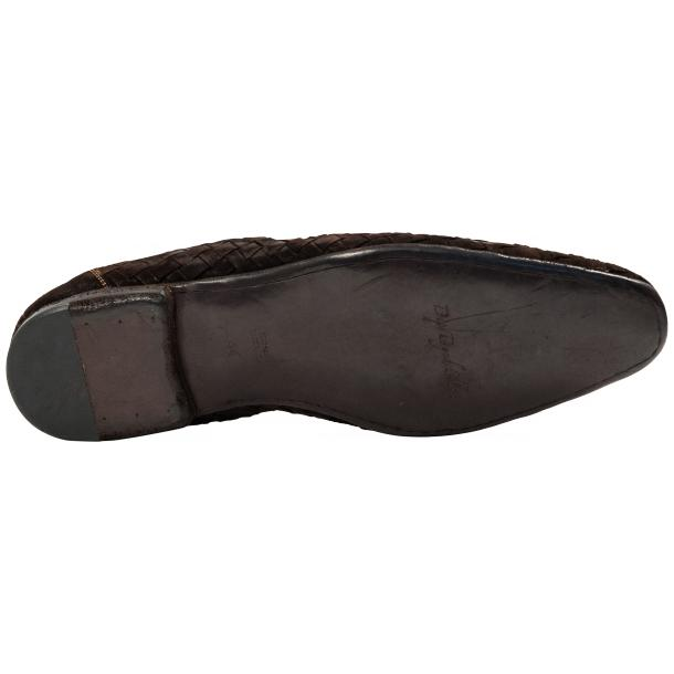 Caesar Dip Dyed Chocolate Suede Hand Woven Slip Ons  full-size #6