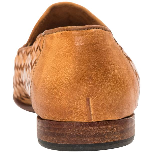 Caesar Dip Dyed Brick Nappa Leather Hand Woven Slip Ons  full-size #5