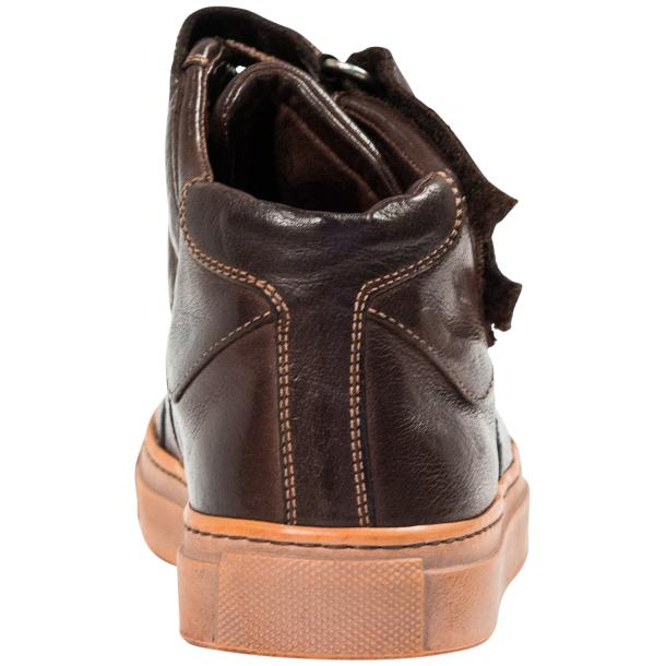 Arlene Brown Nappa Leather Dip Dyed Velcro High Top Sneakers full-size #5