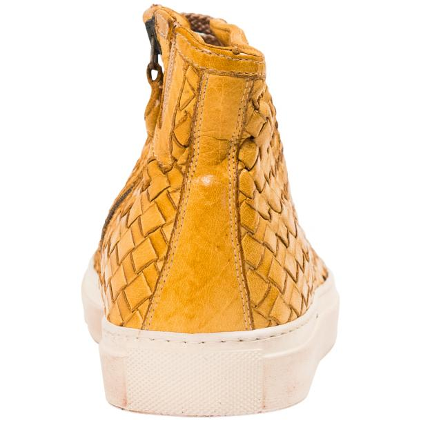 Rosalyn Dip Dyed Mahogany Hand Woven High Top Sneaker  full-size #5