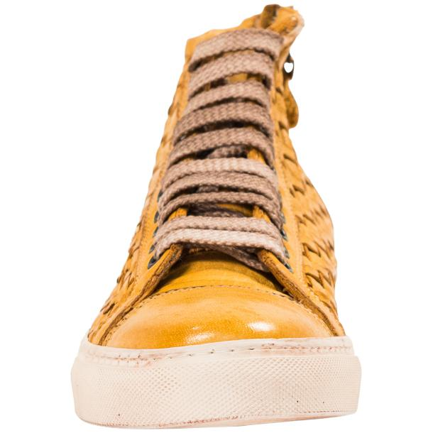 Rosalyn Dip Dyed Mahogany Hand Woven High Top Sneaker  full-size #3
