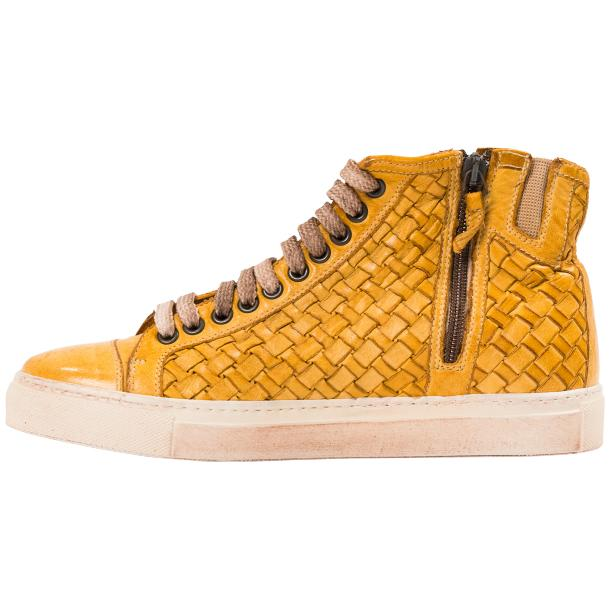 Rosalyn Dip Dyed Mahogany Hand Woven High Top Sneaker  full-size #6