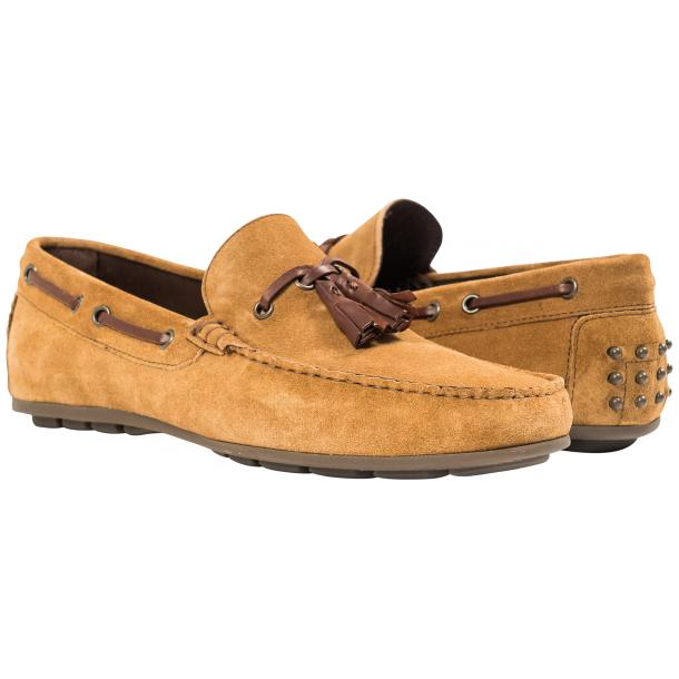 Matthew Kangaroo  Suede Rubber Pebble Drivers Loafers  full-size #1