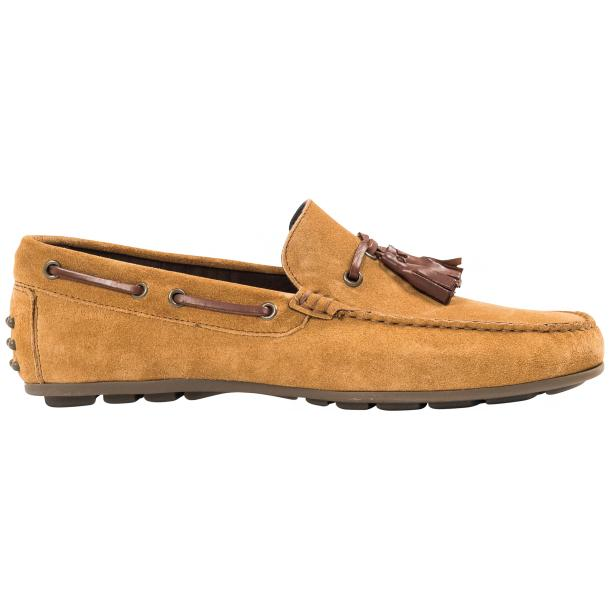 Matthew Kangaroo  Suede Rubber Pebble Drivers Loafers  full-size #4