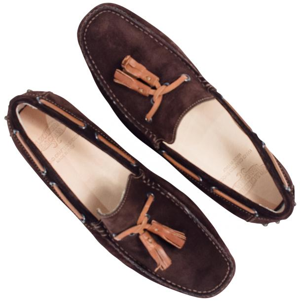 Matthew Chocolate Suede Rubber Pebble Drivers Loafers  full-size #2